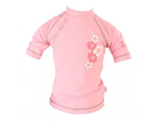 PIWAPEE Top lycra anti UV UPF50+ - Vahiné rose