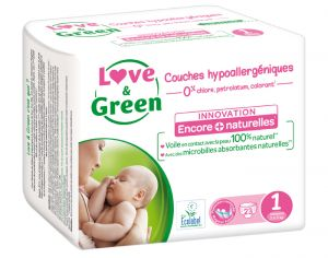 LOVE & GREEN Pack x3 Couches Écologiques 0%