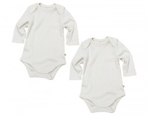 FRUGI Body Manches Longues - Nature - Lot de 2