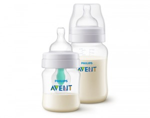 AVENT Biberon Anti-colic avec Valve Airfree - Lot 125 ml + 260 ml