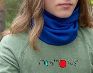 MANYMONTHS Snood Multitube Laine Mérinos - Jewel Blue