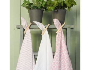 LITTLE CREVETTE Lot de 3 langes Rose