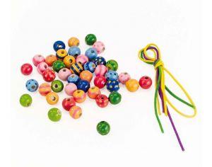 Perles en bois Dès 4 ans