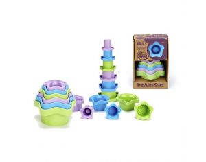 GREEN TOYS Lot de 6 tasses à empiler - Dès 12 mois
