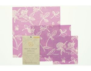 BEE'S WRAP Lot de 3 Emballages Multi taille Clover