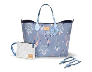 SEVIRA KIDS Sac à main multifonctions - pour la poussette ou à langer - Medium - Dreamcatcher Blanc