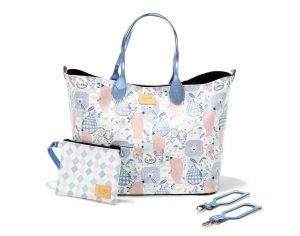 SEVIRA KIDS Sac à main multifonctions - pour la poussette ou à langer - Medium - Sweet Family