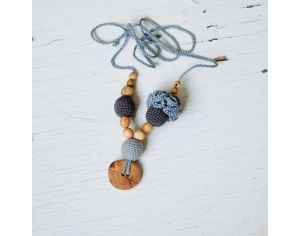 KANGAROO CARE Collier d'allaitement et de portage Light grey & Charcoal Genévrier - FM006