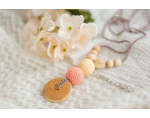 KANGAROO CARE Collier d'allaitement et de portage Peach and Brown Pommier- BN010