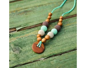 KANGAROO CARE Collier d'allaitement et de portage Mint green & Brown Pommier - BN023