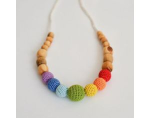 KANGAROO CARE Collier d'allaitement et de portage Simple Rainbow Genévrier - RN008