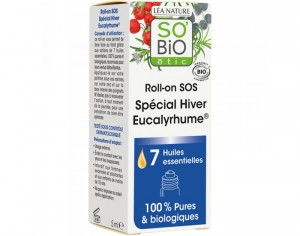 SO'BIO Roll-on SOS Spécial Hiver Eucalyrhume - 7 Huiles Essentielles - 5 ml