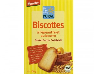 PURAL Biscottes Epeautre Beurre - 200 g