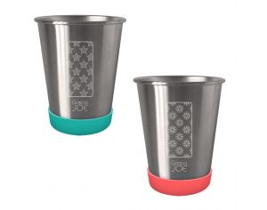 GASPAJOE Set de 2 Gobelets en inox - 350ml Party