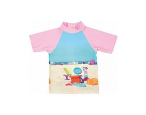 MAYOPARASOL Plage Tshirt top manches courtes anti UV Plage Rose