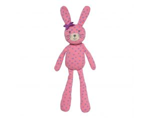 ORGANIC FARM BUDDIES Doudou Spring Bunny rose clair