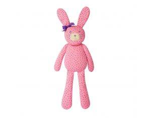 ORGANIC FARM BUDDIES Peluche Big Farm bunny rose/étoiles