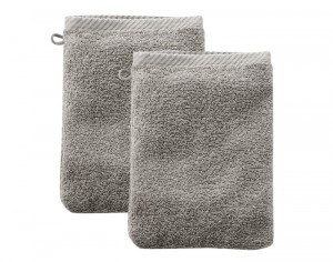 LIVING CRAFTS Lot de 2 Gants de Toilette - Sable - 22 x 16 cm