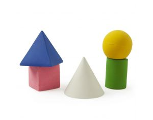 Pack de 5 figures geometriques - En latex d'hevea 100% naturel