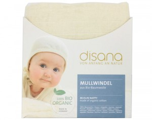 DISANA Lot de 5 Langes en Coton Bio - 80 x 80 cm