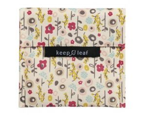 KEEP LEAF Pochette lavable large - Bloom