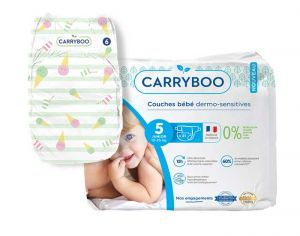 Couches Carryboo Dermo-sensitives - Couches Écologiques  T5 / 12-25 kg / 21 couches