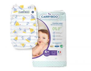 Couches Carryboo Dermo-sensitives - Couches Écologiques - Pack Economique T4+ / 9-20 kg / 46 couches