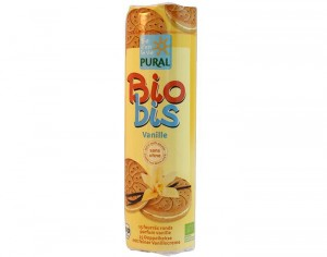PURAL Biscuits Fourr�s Ronds Biobis  Vanille