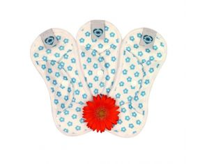 BLOOM & NORA Lot de 3 Serviettes Hygiéniques Lavables MINI NORA