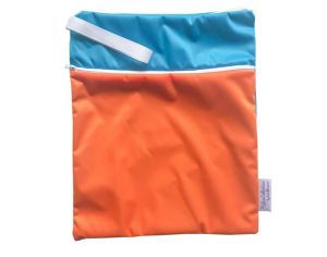 APPLECHEEKS Sac imperméable réutilisable 2 en 1 -bTaille L - Ste Lucie/Orange