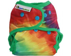 BEST BOTTOM Couche lavable TE2 Taille Unique pressions  - Totally Tie Die