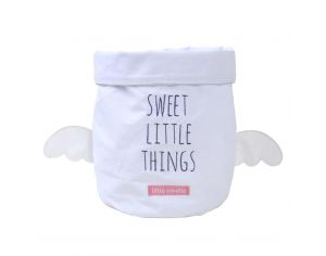 LITTLE CREVETTE Panier de Toilette Gris Clair Sweet Dreams