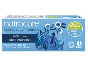 NATRACARE Tampons Sans Applicateur - Boite de 20