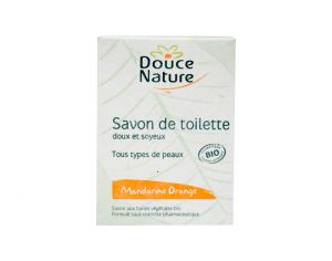 DOUCE NATURE Savon de Toilette Mandarine-Orange - 100 g