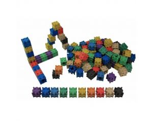 Lot de 100 Cubes Encastrables Colorés en Bois Re-Wood - Dès 3 ans