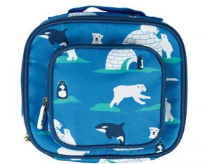FRUGI Lunch Bag en Polyester Recyclé - Ours Polaire