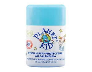 PLANET KID Stick Solaire Protecteur au Calendula SPF 30 - 11 ml