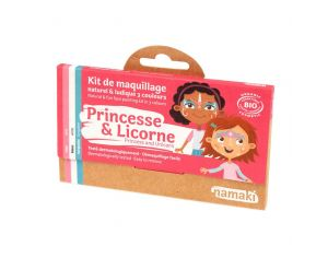 NAMAKI Kit de Maquillage 3 Couleurs Princesse et Licorne