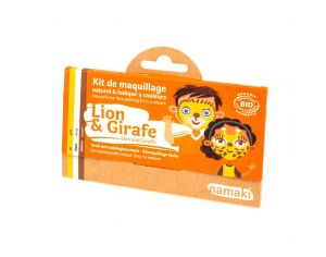 NAMAKI Kit de Maquillage 3 Couleurs Lion et Giraffe