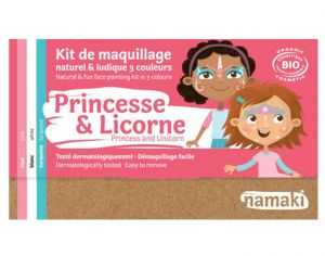 NAMAKI Kit de Maquillage 3 Couleurs - Princesse et Licorne