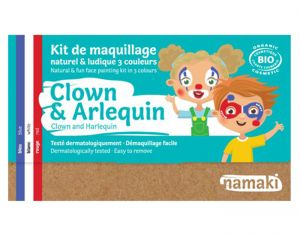 NAMAKI Kit de Maquillage 3 Couleurs - Clown et Arlequin