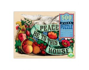 EEBOO Puzzle 500p Pièces - Peace Be to This House - Dès 8 Ans