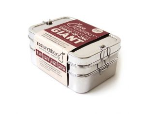 ECOLUNCH BOX Lunch Box Inox 3 en 1 Géante - 2000ml