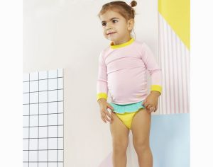 KI ET LA Culotte de Bain Anti-UV UPF 50+ Annette - Yellow Green