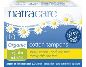 NATRACARE Tampon Sans Applicateur - Boite de 10