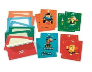 DJECO Cartes d'invitation des pirates