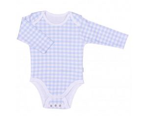 SEVIRA KIDS Body Bébé Collection Vichy Bleu 6-9M - 68CM