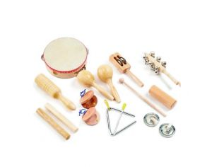 TICKIT Set de 10 Instruments de Percussion - Dès 3 ans