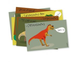 PIROUETTE CACAHOUETE Cartes d'invitations Dinosaure