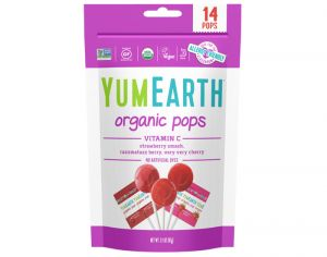 YUMEARTH 14 Sucettes Fruits Rouges Vitamine C - 85g